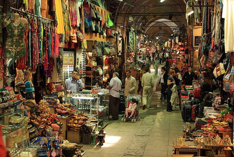 Most Famous Street Markets:  Grand Bazaar, Istanbul