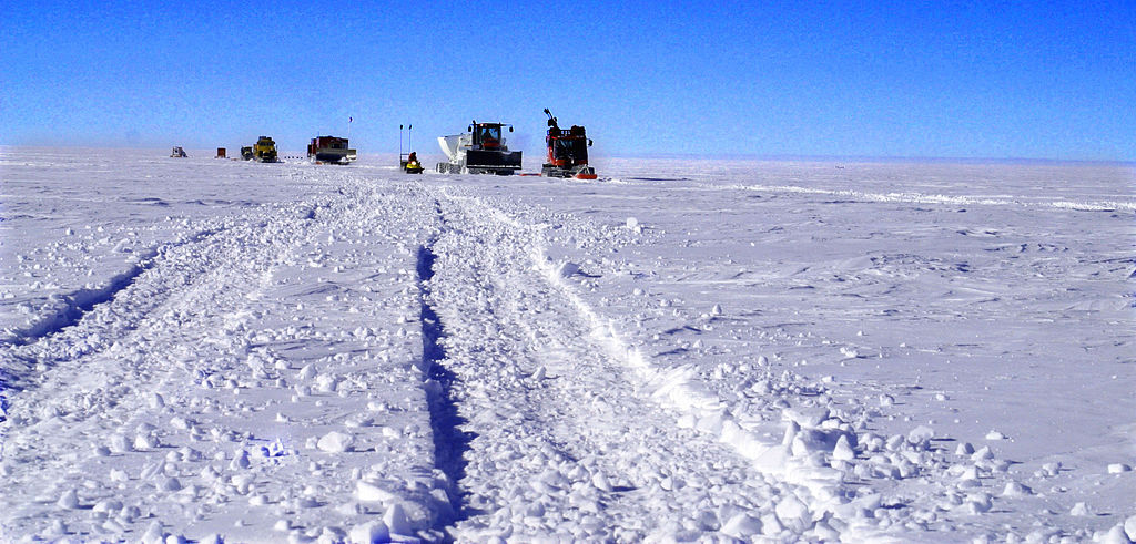World's most frozen road: McMurdo South Pole Highway, Antartica