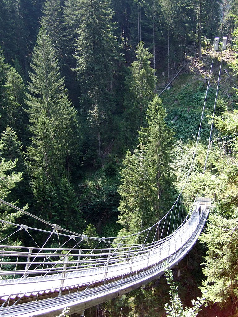 Scariest Rope Bridges In The World: Bridge Traversine, Switzerland