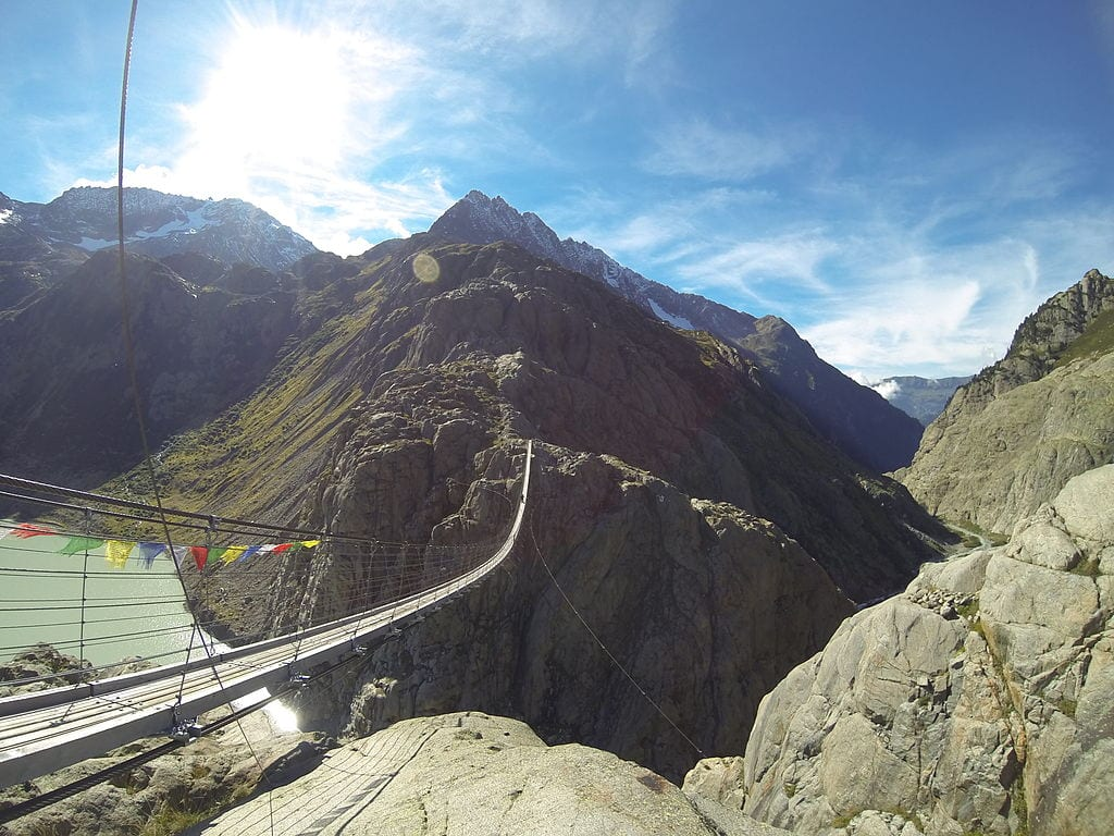 Scariest Rope Bridges In The World: Trift Bridge, Switzerland