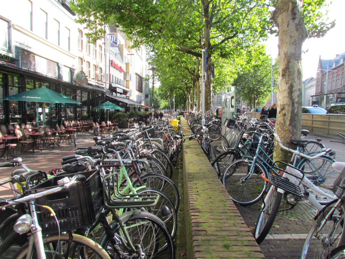 Bicycles in Amsterdam - a bicycle-friendly city