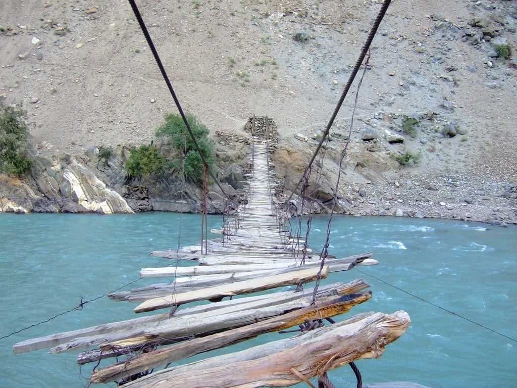 Scariest Rope Bridges In The World: Rope Bridge In Astore Valley, Pakistan