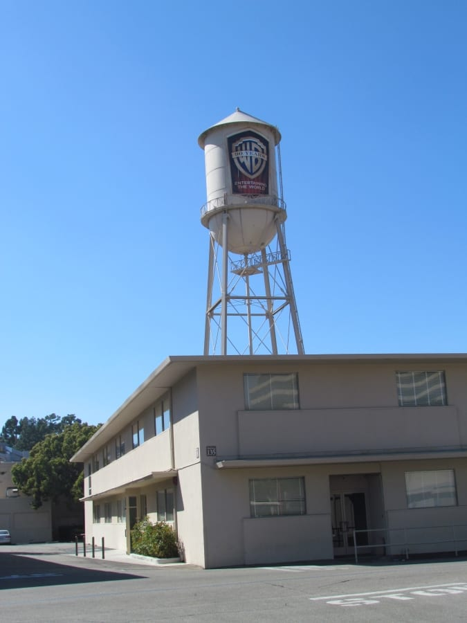 Coolest Water Towers: Warner Bros water tower, Los Angeles, California
