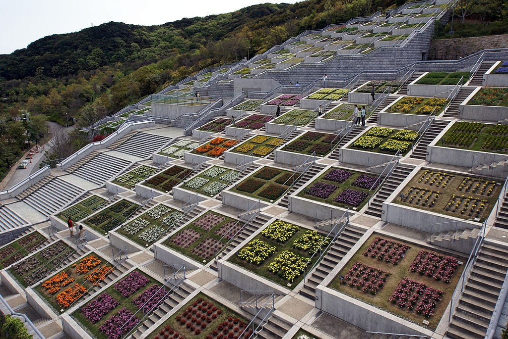 Staircases Worth The Climb: Hyakudanen Garden, Awaji Island, Japan