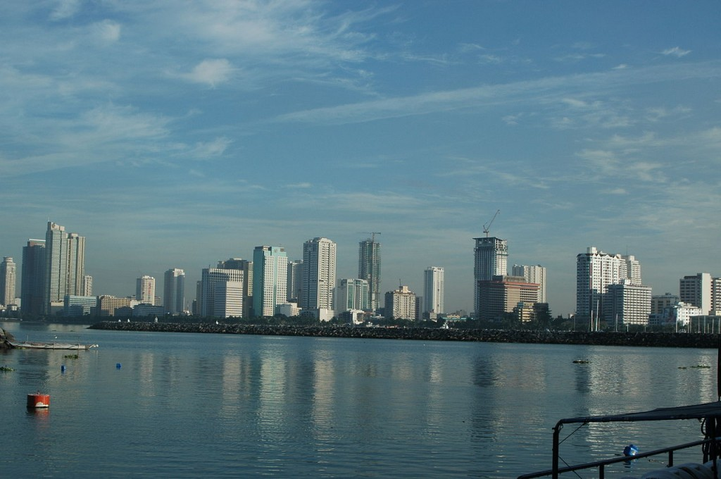 Manila's skyline. The Philippines has the 5th longest coastline