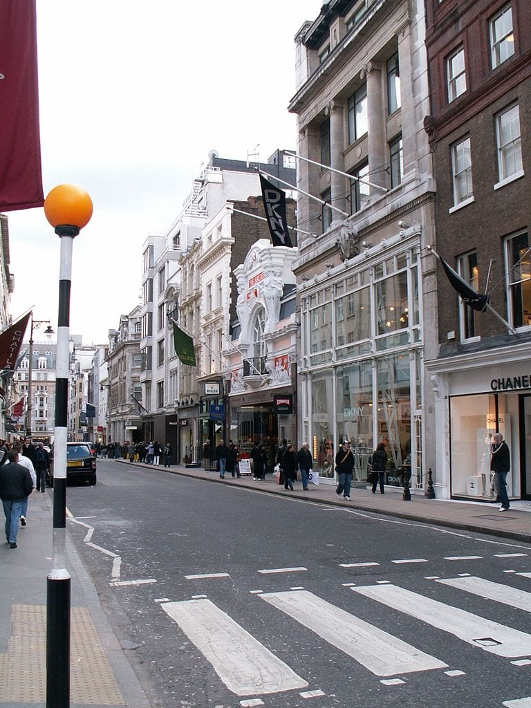 Best Shopping Streets In The World: Bond Street, London