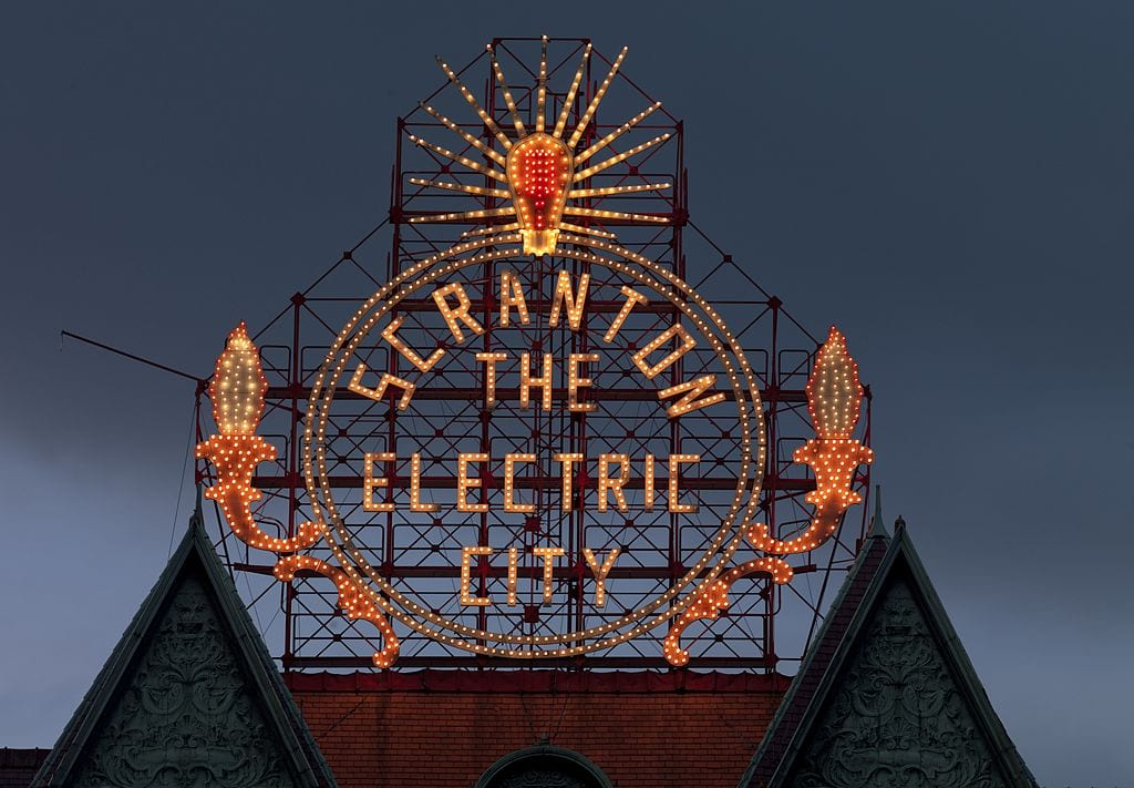 Most Famous City Welcome Signs: Scranton Electric City sign