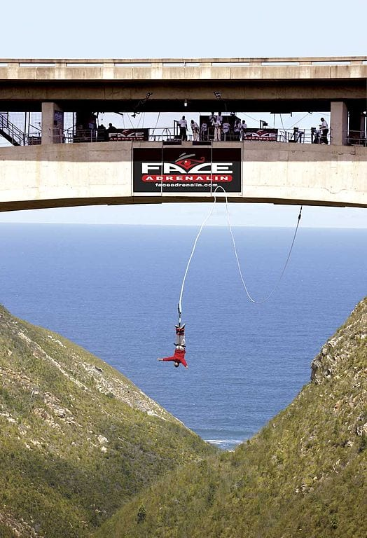 Highest Bungee Jumps: Bloukrans Bridge, Western Cape, South Africa