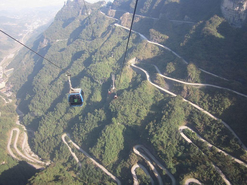 Most Beautiful Roads In The World: Tianmen Mountain Road, China