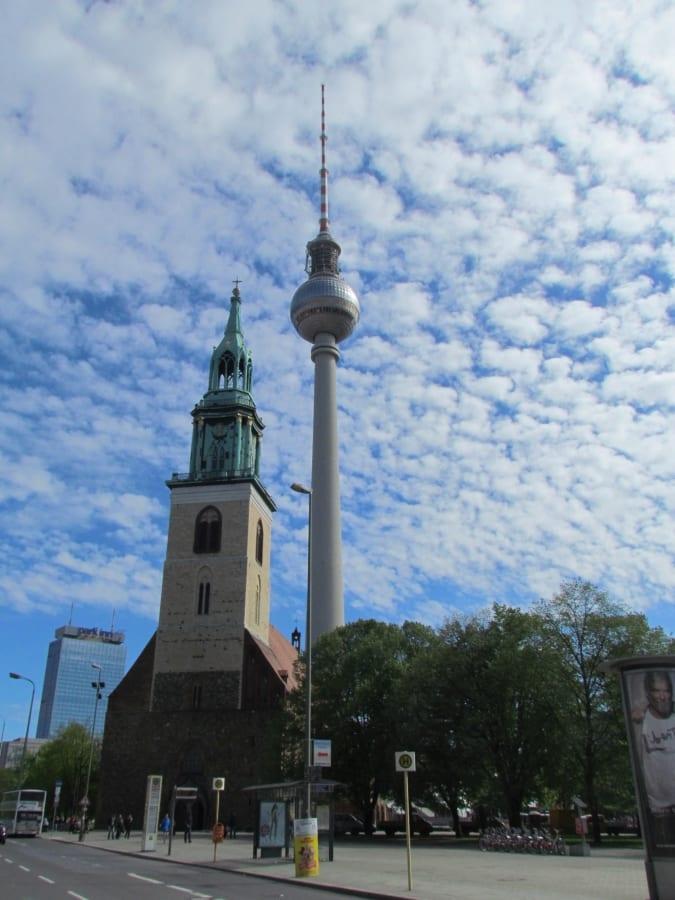 Best Attractions In Berlin: Alexanderplatz and Fernsehturm TV Tower