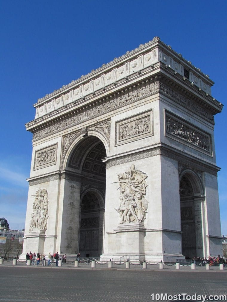 Most Famous ManMade Arches: Arc de Triumph, Paris