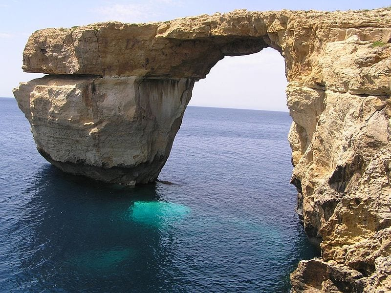 Most Beautiful Natural Arches In The World: Azure Window, Malta