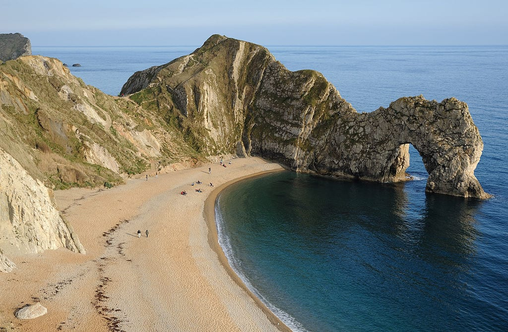 The famous Durdle Door,   Dorset and East Devon Coast heritage site, England