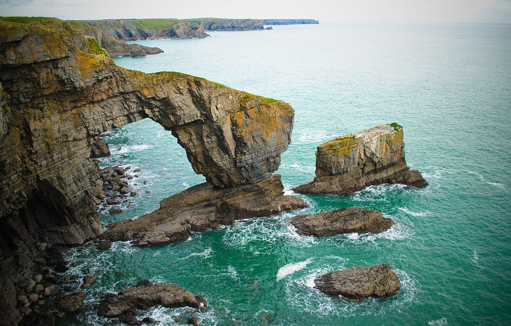 Most Beautiful Natural Arches In The World: The Green Bridge of Wales