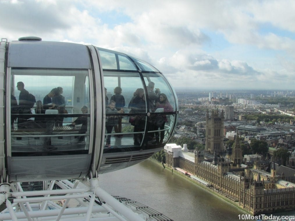 Westminster Palace from the London Eye, England