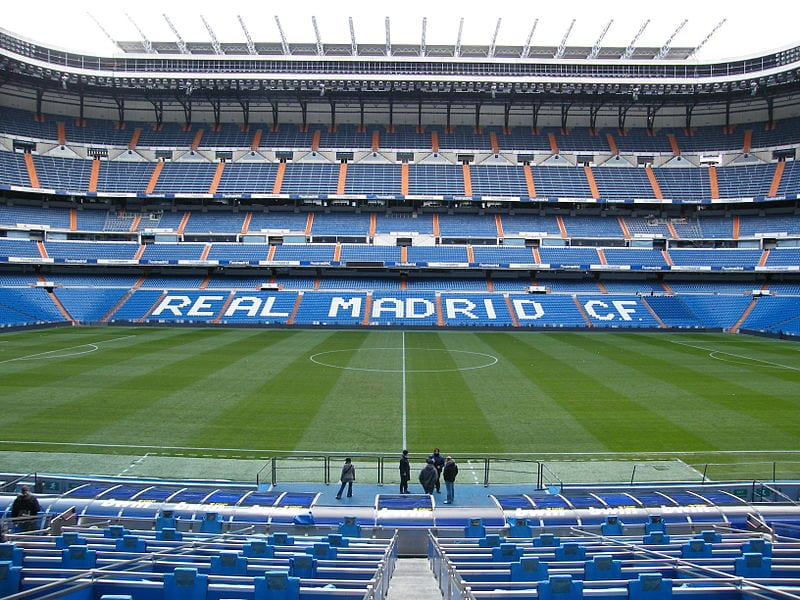 Real Madrid at Santiago Bernabéu, Madrid