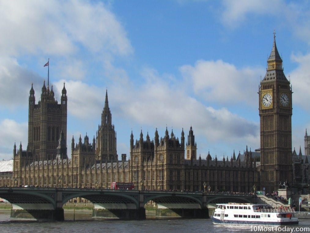 10 Most Famous Monuments In Europe: The Big Ben