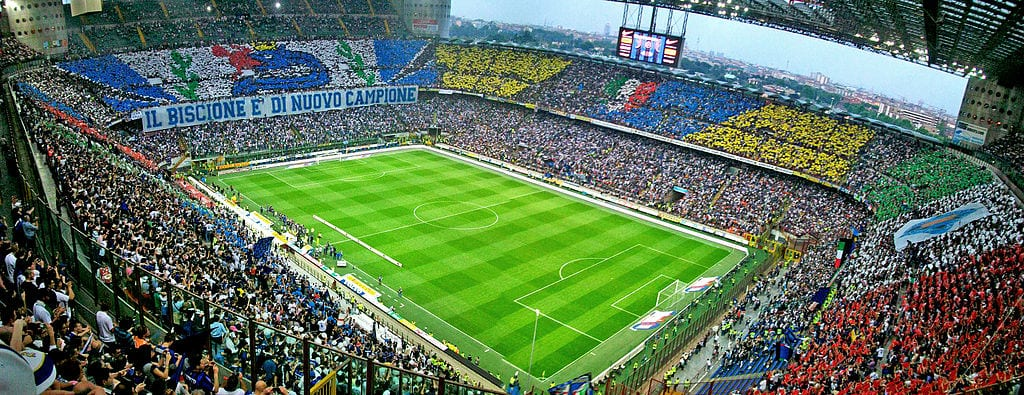 A.C. Milan or Inter Mila at San Siro Stadium, Milan