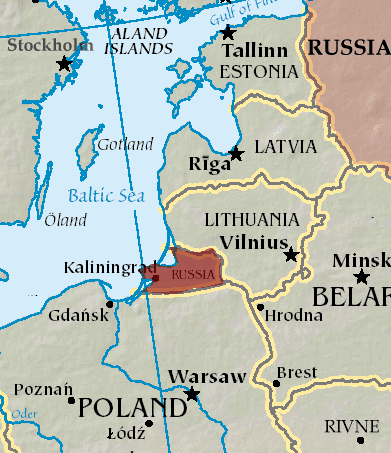 Kaliningrad Oblast - The Russian enclave between Lithuania and Poland