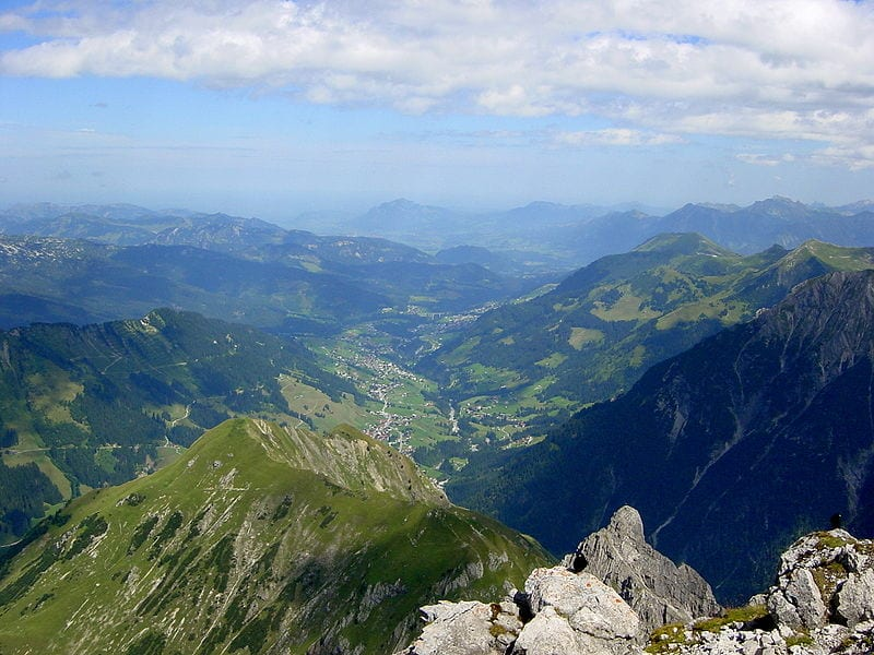 The Austrian valley of Kleinwalsertal - the only land access is through Germany