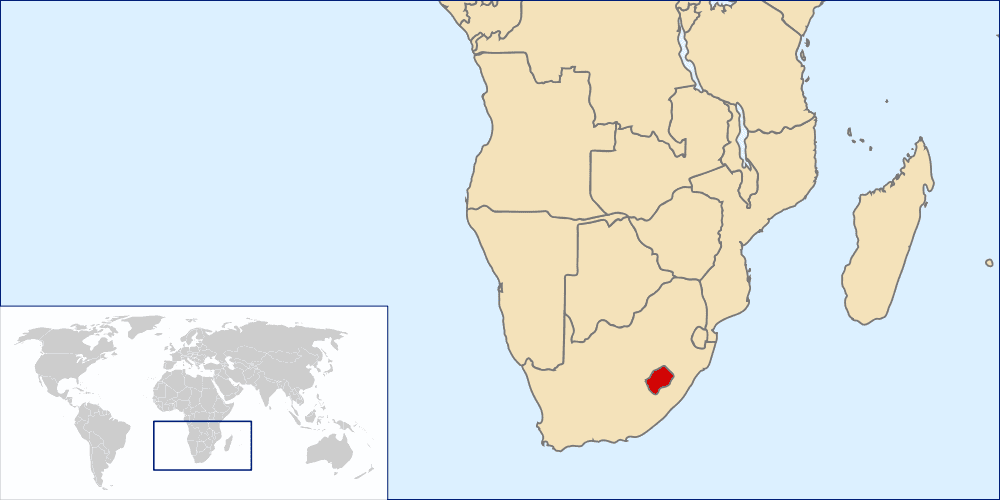 Lesotho, an enclave within South Africa