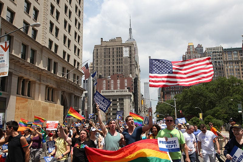 Most Gay Friendly Cities: Pride parade in New York city