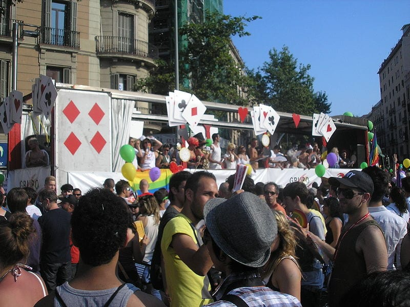 Most Gay Friendly Cities: Pride parade in Barcelona