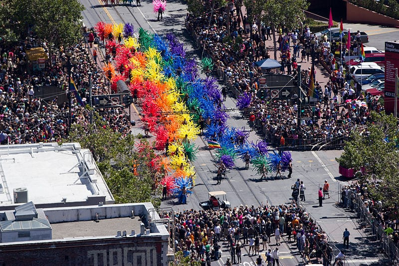 Most Gay Friendly Cities: Pride parade in San Francisco