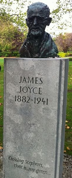 Best Attractions In Dublin: James Joyce memorial in St. Stephen's Green