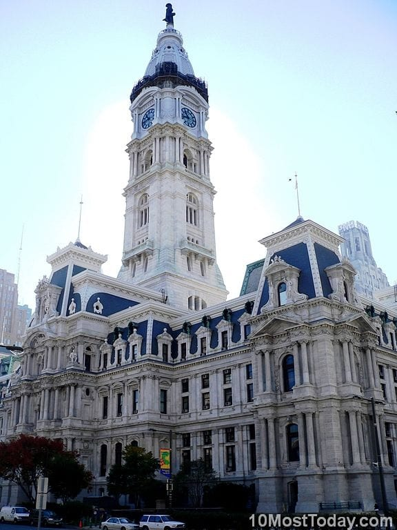 Most Famous Clock Towers In The World: Philadelphia City Hall, Philadelphia