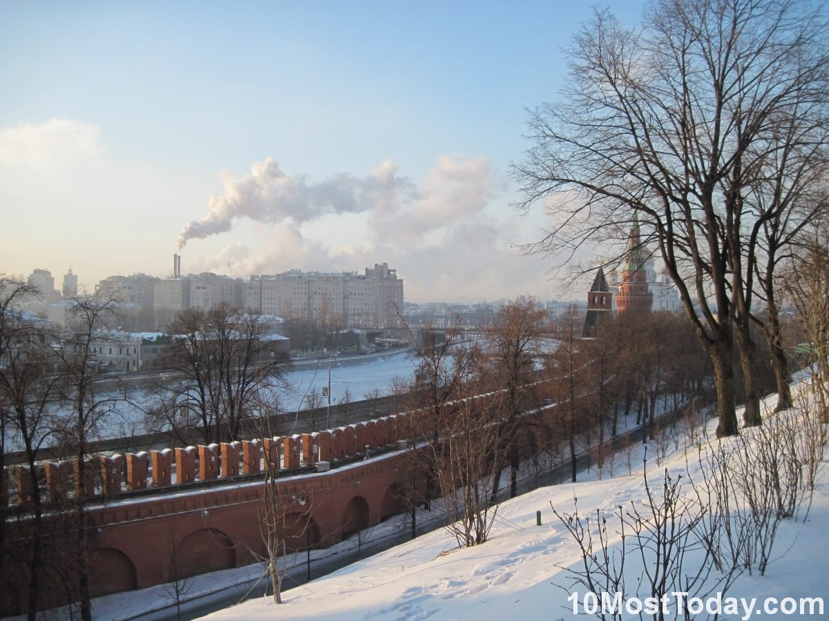 Moskva River, Moscow. Picture taken from within the Kremlin