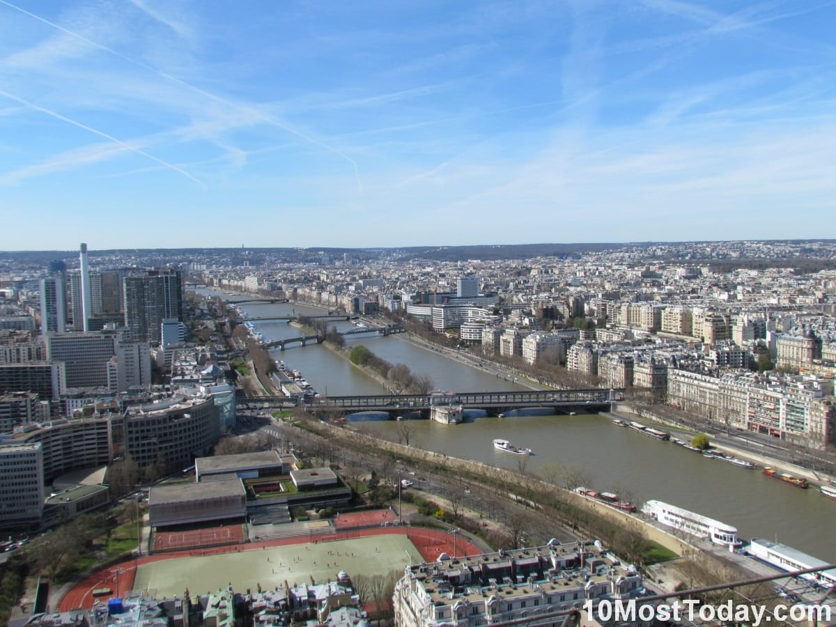 The Seine, Paris. Picture taken from the Eiffel Tower