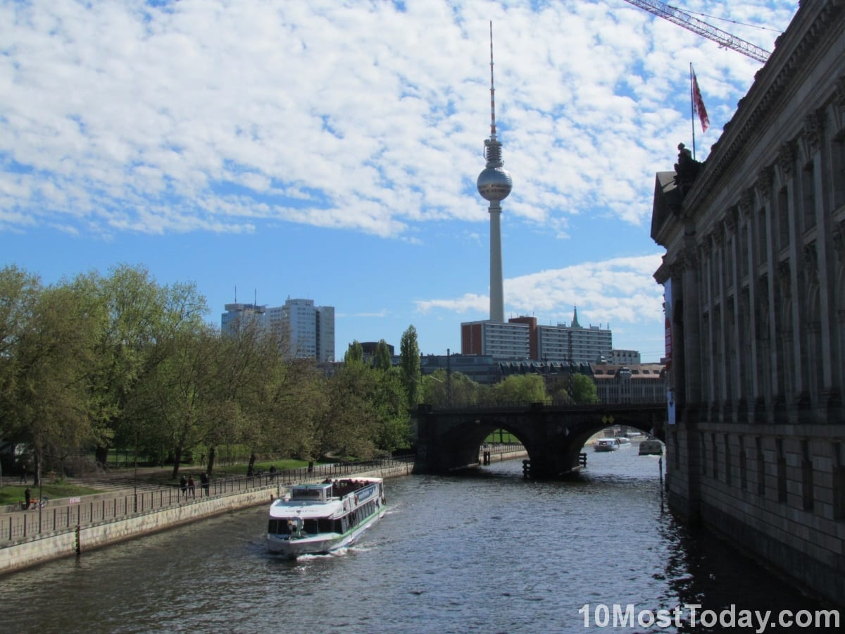 Spree River and the Berlin TV Tower, Berlin