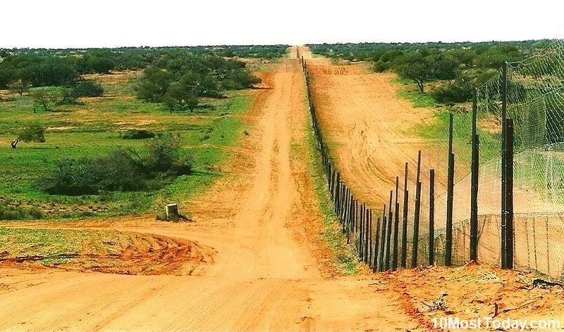 Most Incredible Man Made Barriers: Dingo Fence (Dog Fence), Australia