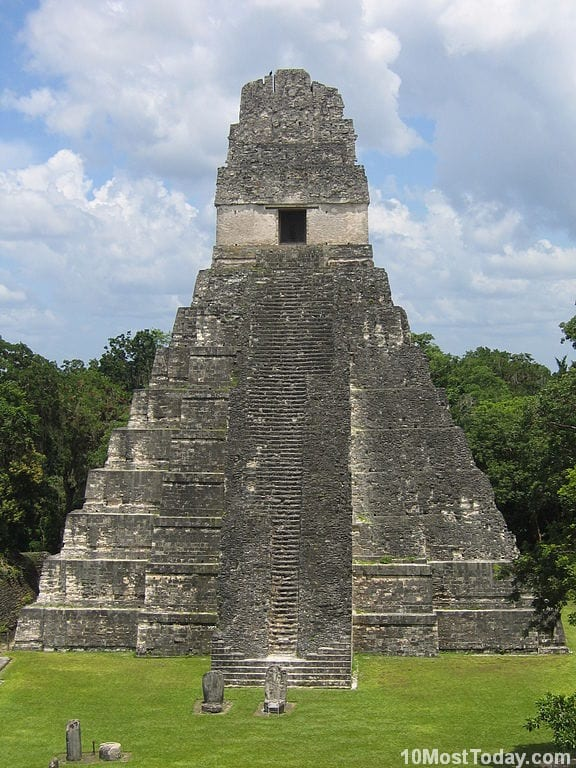 Most Notable Pyramids In The World: Temple of the Great Jaguar, Tikal Temples, Guatemala