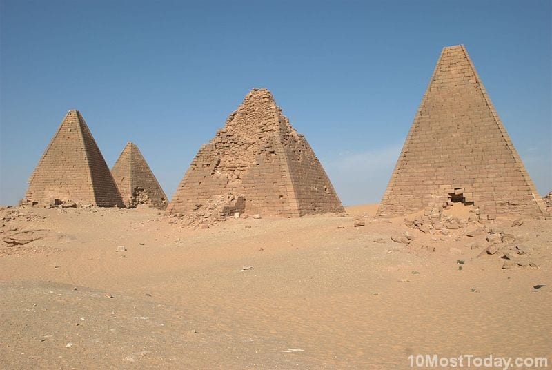 Most Notable Pyramids In The World: Nubian Pyramids, Jebel Barkal, Sudan