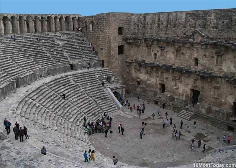 Most Beautiful Roman Theaters: Aspendos Theater