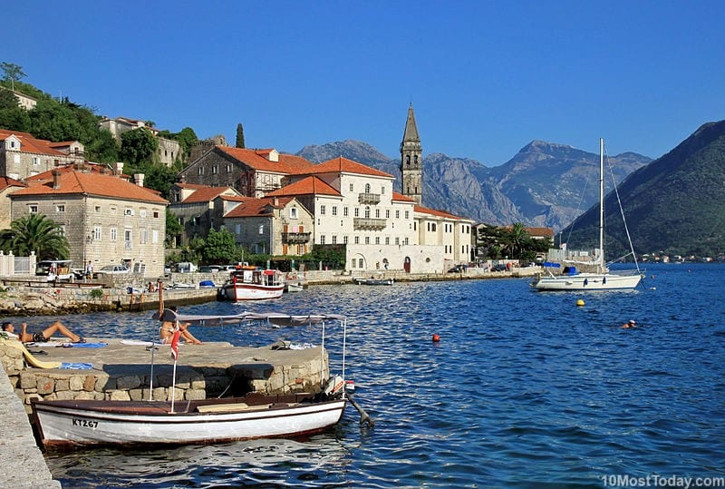 Bay of Kotor, Montenegro - one of the smallest countries in Europe