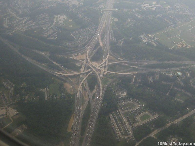 Mind Blowing Interchanges: I-695 and I-95, Baltimore County ,Maryland