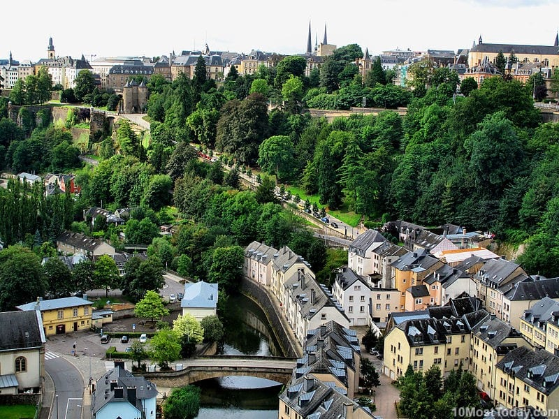 Luxembourg City - the capital of Luxembourg, an European microstate