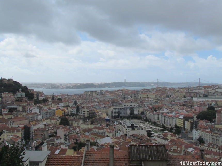 Best Attractions In Lisbon: The view from Miradouro da Senhora do Monte