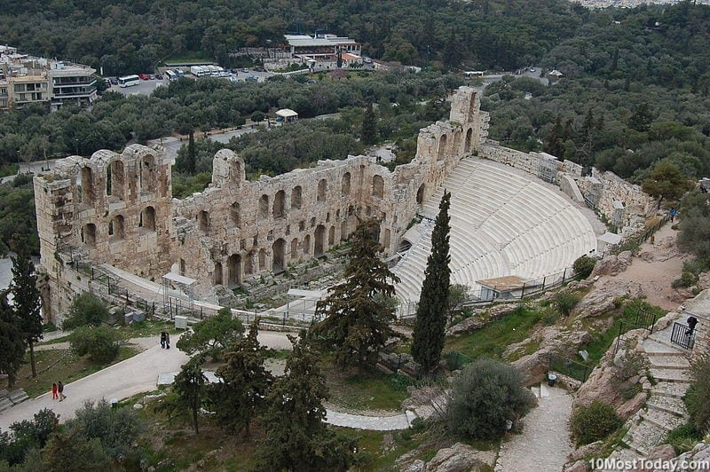 Most Beautiful Roman Theaters: Odeon of Herodes Atticus