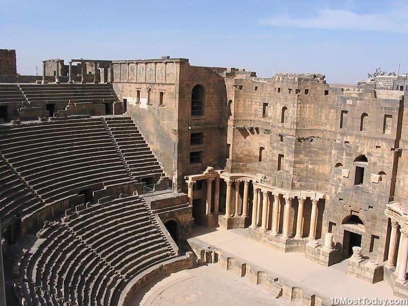 Most Beautiful Roman Theaters: Roman theater of Bosra