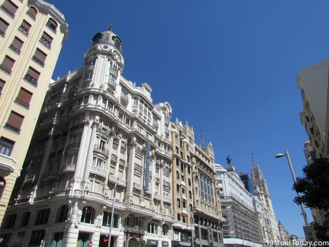 Best Attractions In Madrid: Gran Via
