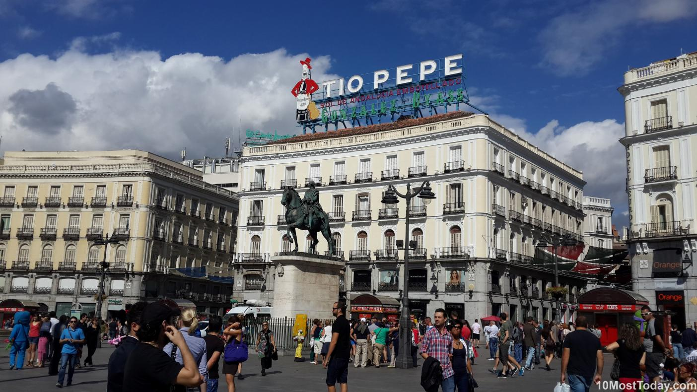 Best Attractions In Madrid: Puerta del Sol