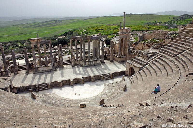 Most Beautiful Roman Theaters: Dougga Theater