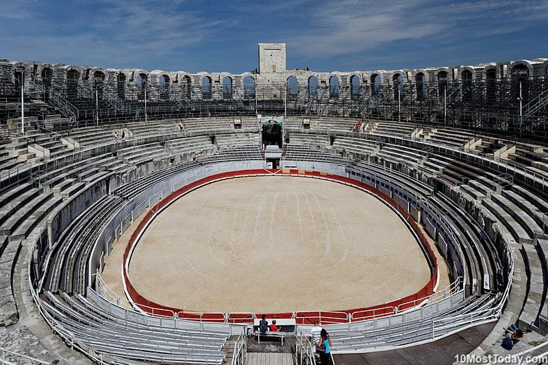 Arles Amphitheater in France - a cultural world heritage site