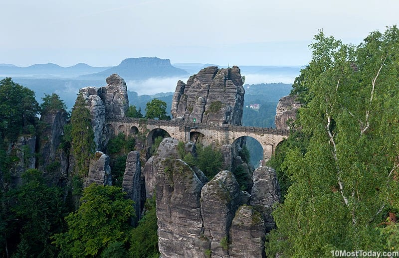 Most Beautiful Stone Bridges In The World: Bastei Bridge, Germany
