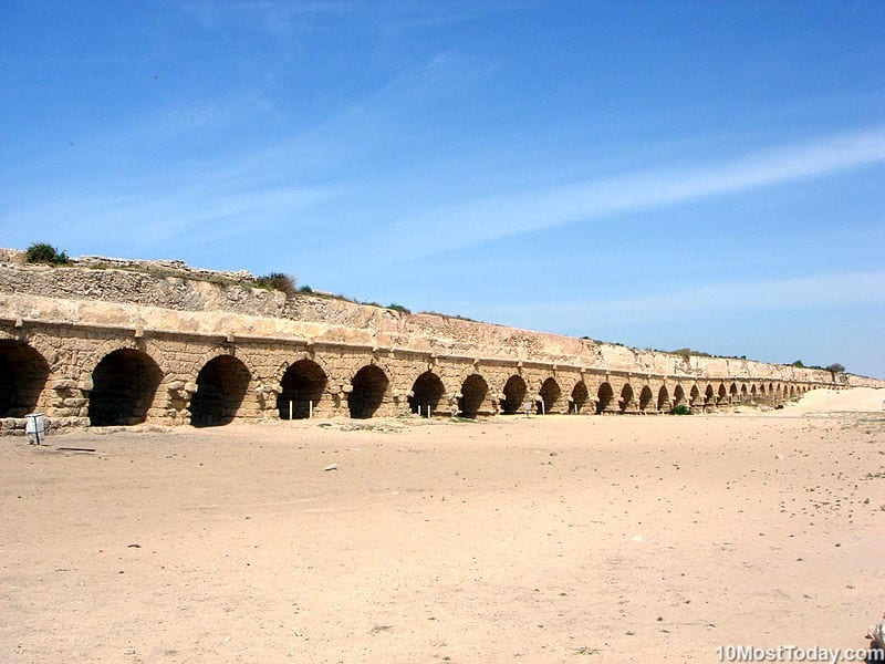 Most Beautiful Roman Aqueducts: Caesarea Aqueduct