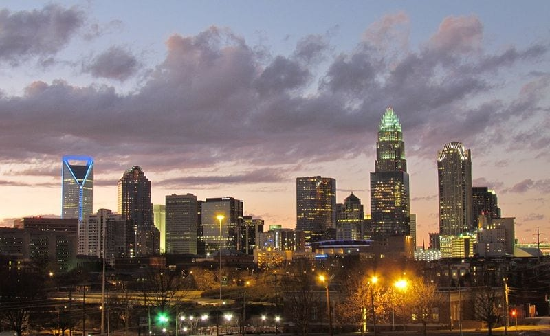 Charlotte, North Carolina. North Carolina is the 10th largest state by population